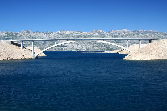 Pažský most, Chorvatsko