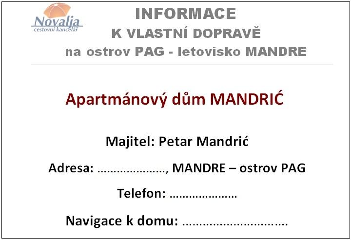 Informace k dopravě do Chorvatska